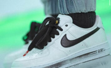 PEACEMINUSONE Nike Air Force 1 White DD3223-100 On Feet