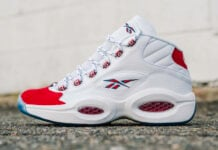 Reebok Question Mid Suede Red Toe 2020