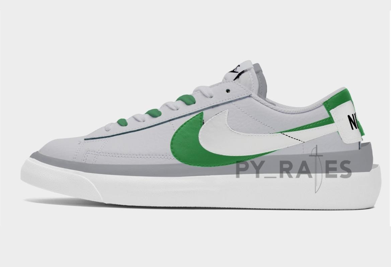 Sacai Nike Blazer Low Green Release Date Info