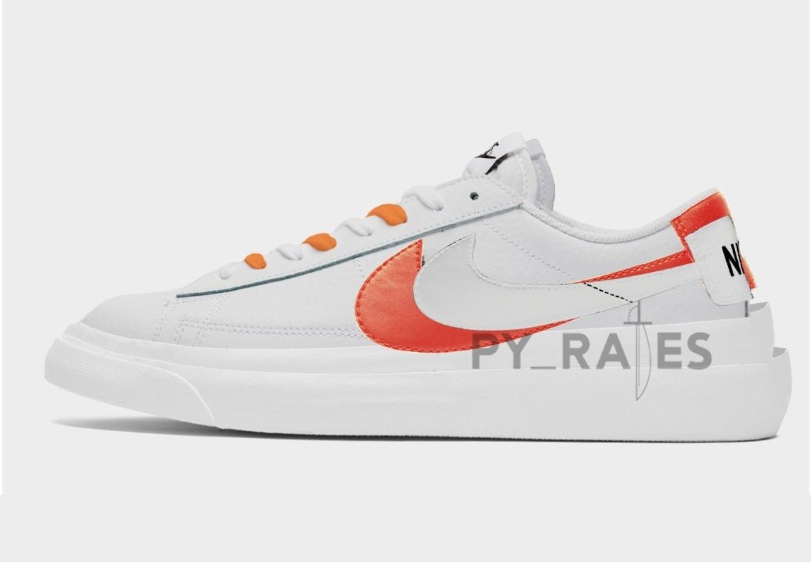 Sacai Nike Blazer Low Orange Release Date Info