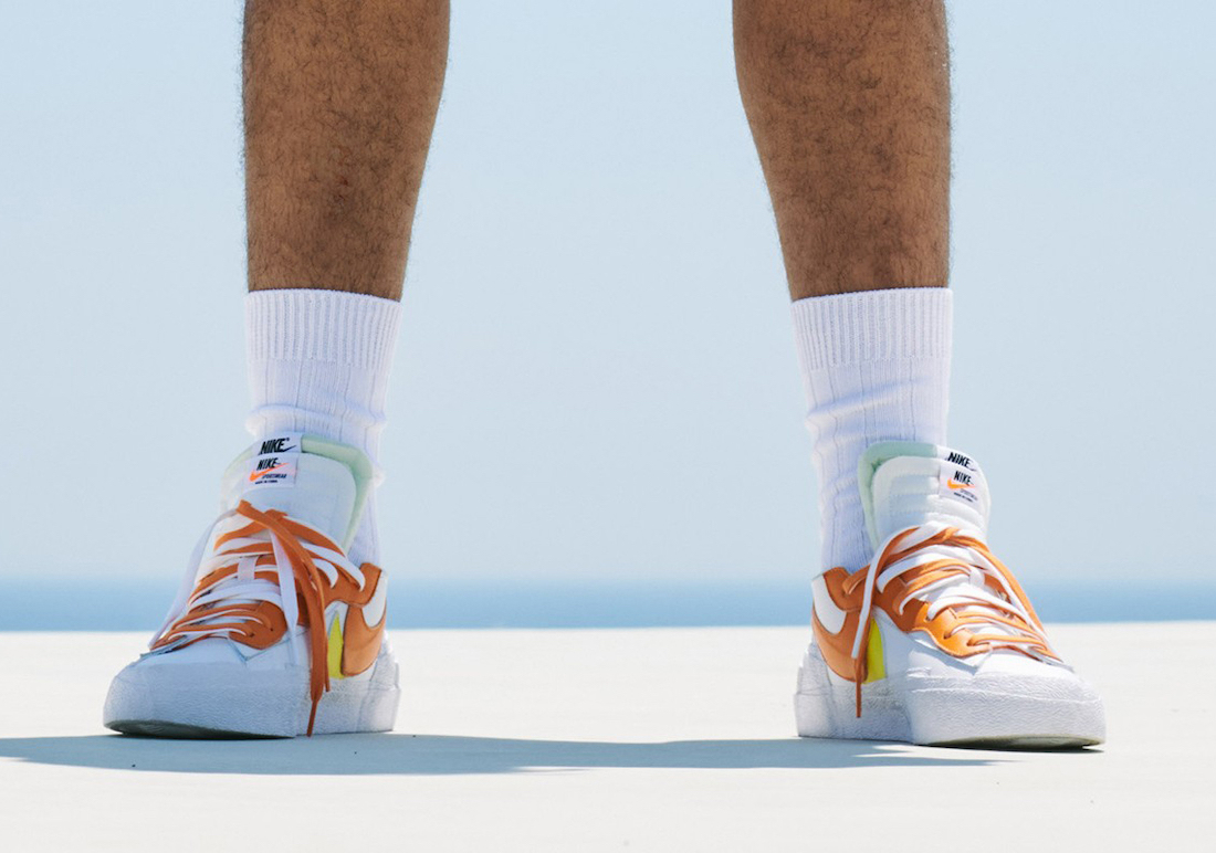 sacai Nike Blazer Low Orange Release Date
