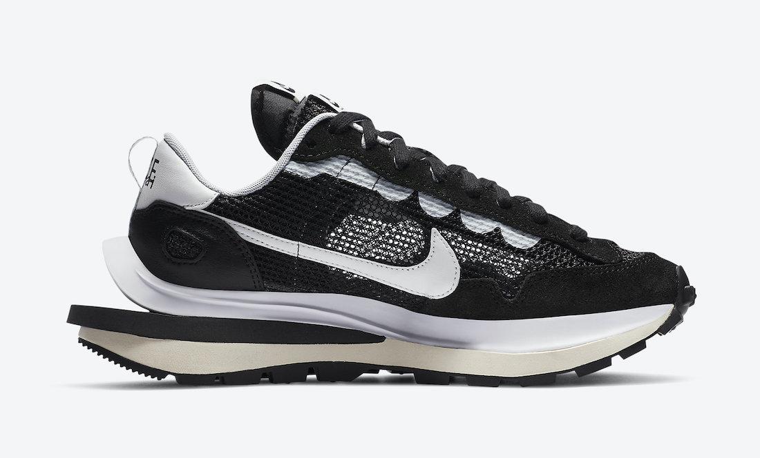 Sacai Nike VaporWaffle Black CV1363-001 Release Date