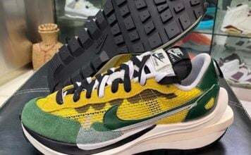 sacai Nike VaporWaffle Tour Yellow Stadium Green CV1363-700