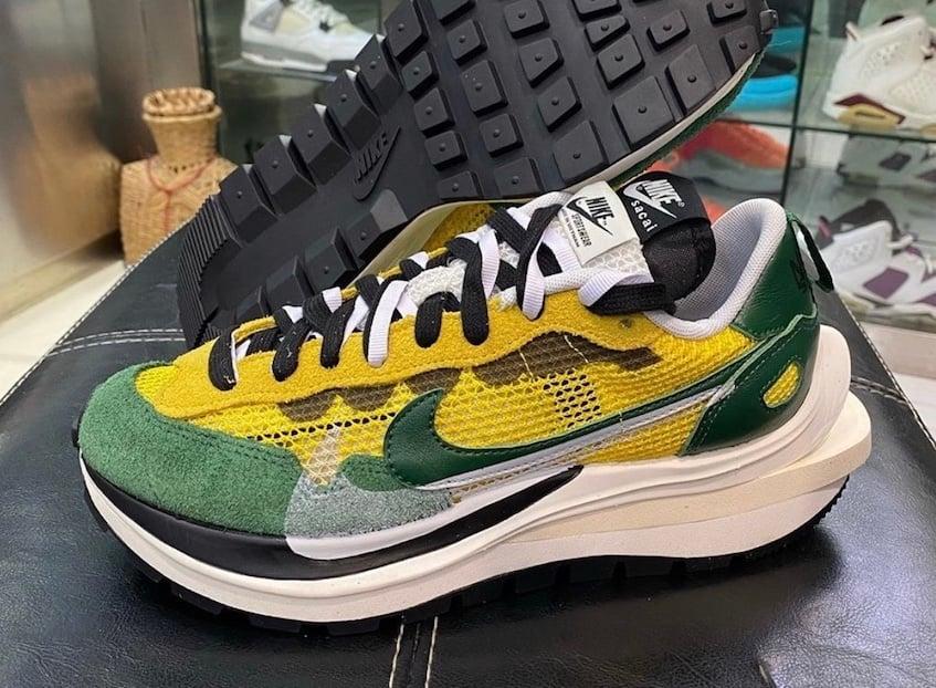sacai Nike VaporWaffle Tour Yellow Stadium Green CV1363-700