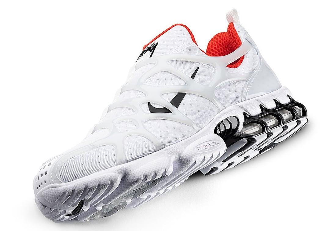 Stussy x Nike Air Zoom Spiridon Kukini White Habanero Red Release Date