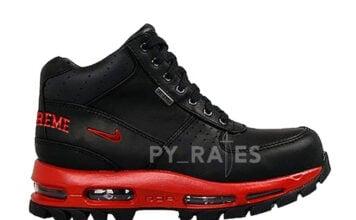 Supreme Nike Air Max Goadome Fire Red Black Release Date Info