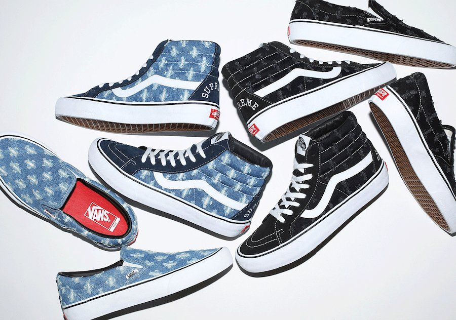 Supreme x Vans 'Hole Punch Denim' Collection Releases This Week
