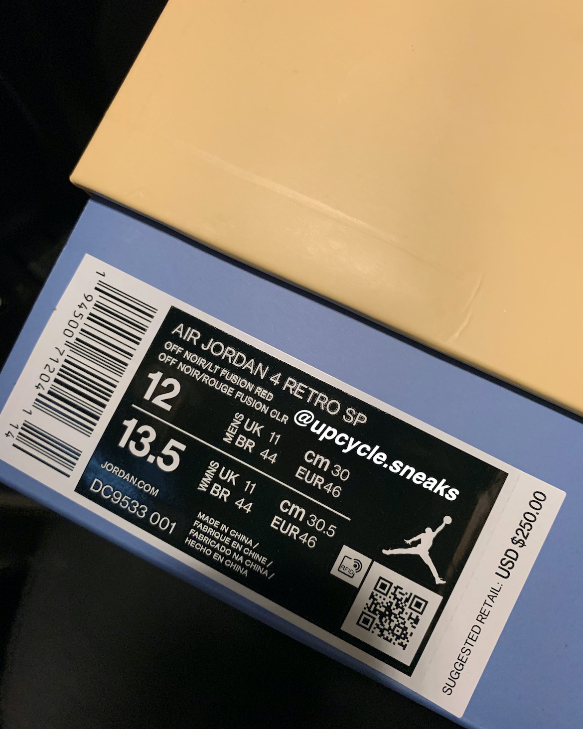 Union Air Jordan 4 DC9533-001 Release Date