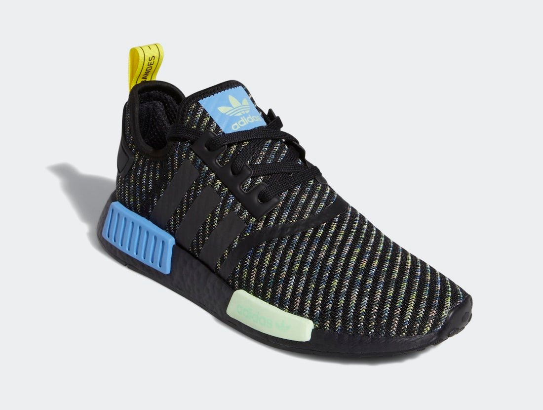 adidas NMD R1 Black Real Blue EG7945 Release Date Info