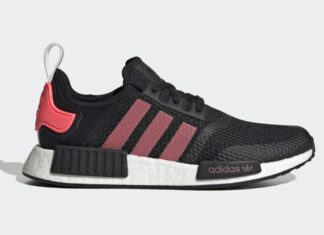 adidas NMD R1 Black Signal Pink FV9153 Release Date Info