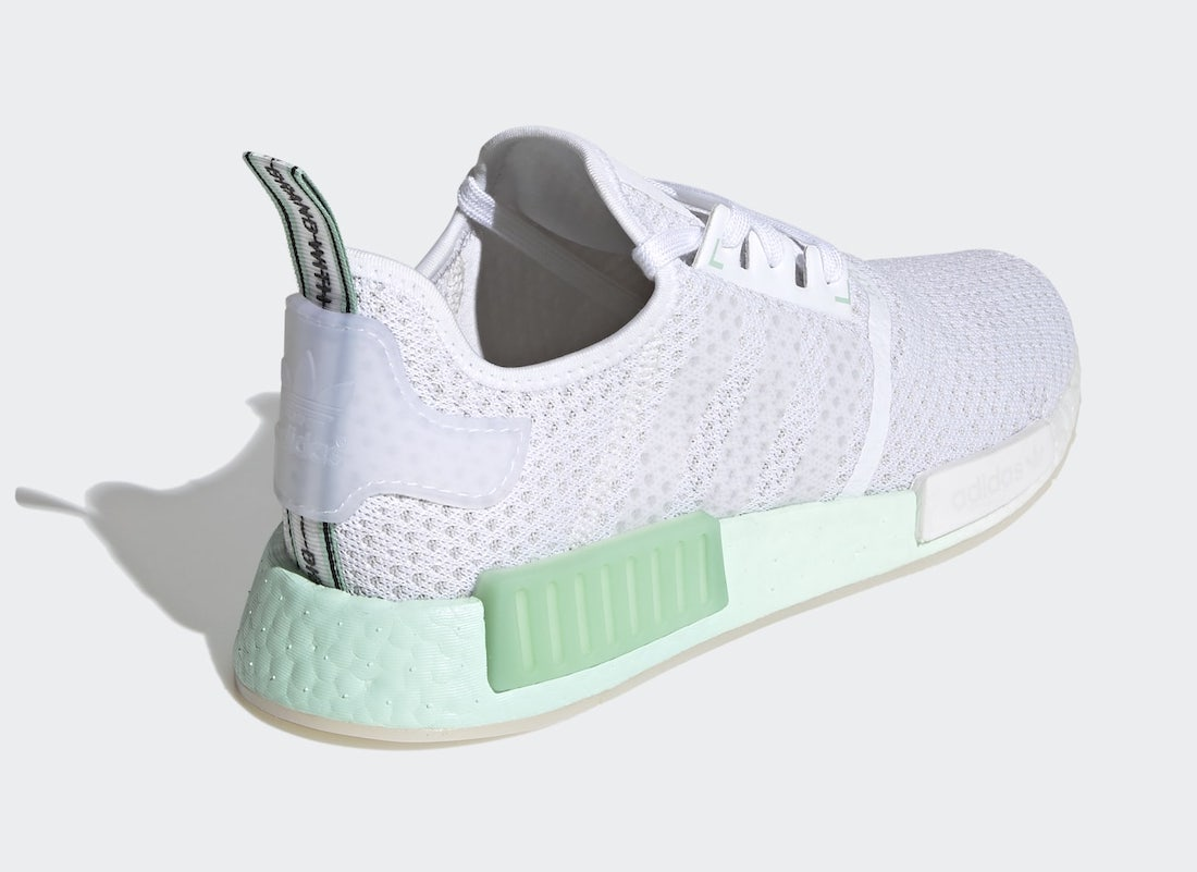 adidas NMD R1 Cloud White Blush Green FV1737 Release Date Info