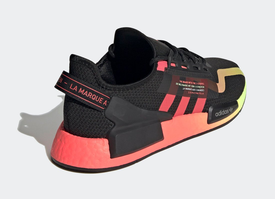 adidas NMD R1 V2 Black Signal Pink Green FY5918 Release Date Info