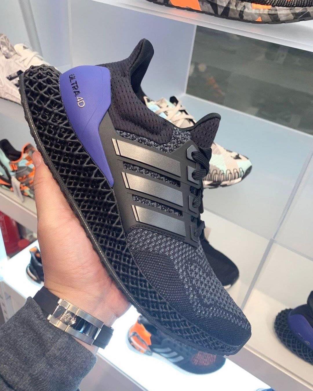 adidas Ultra 4D Black Purple Release Date Info
