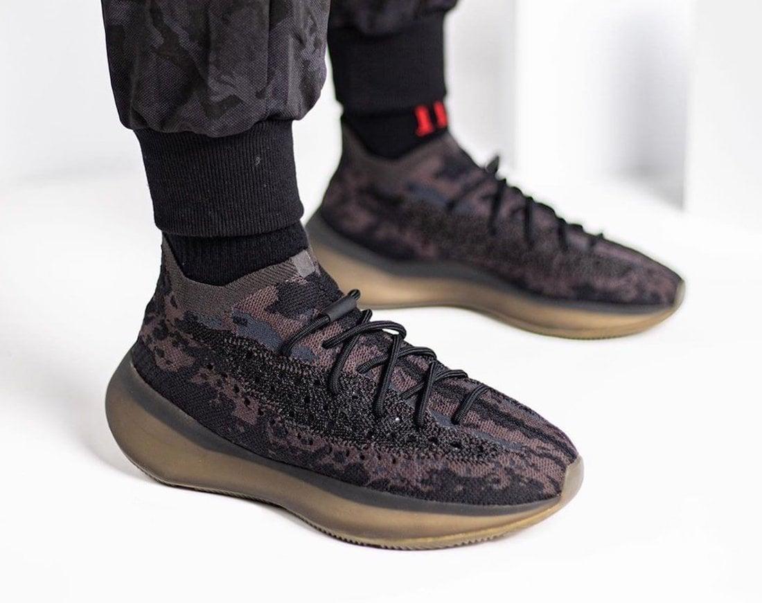 adidas Yeezy Boost 380 Onyx On Feet