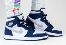 Air Jordan 1 High OG CO.JP Japan Midnight Navy DC1788-100 On Feet