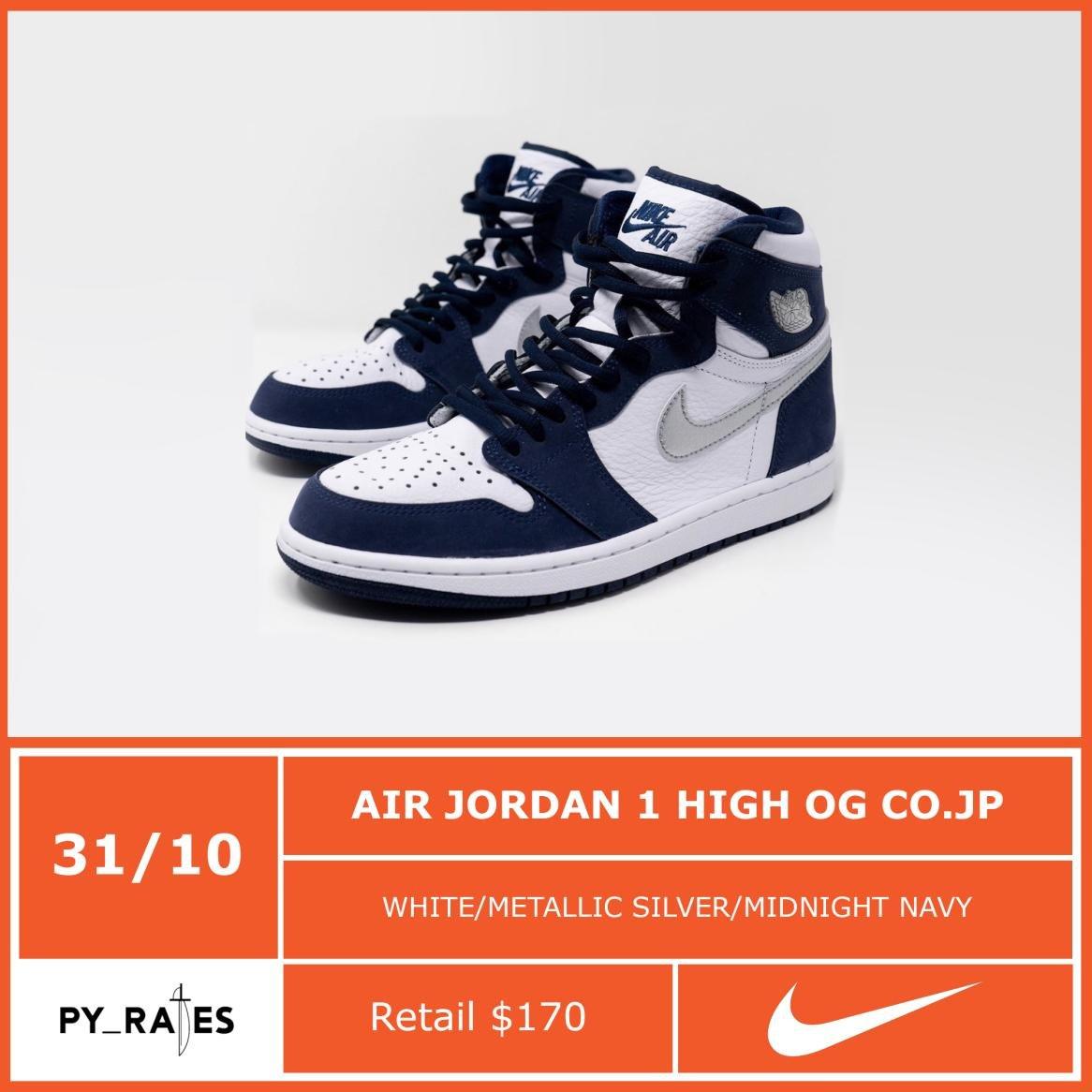 Air Jordan 1 High OG CO.JP Midnight Navy Release Date