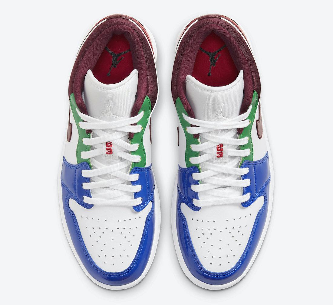 Air Jordan 1 Low Multi-Color DB5455-100 Release Date Info