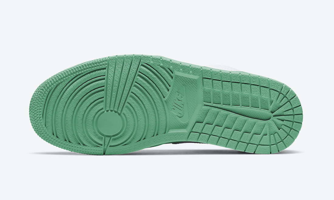 Air Jordan 1 Low White Green Black 553558-129 Release Date Info