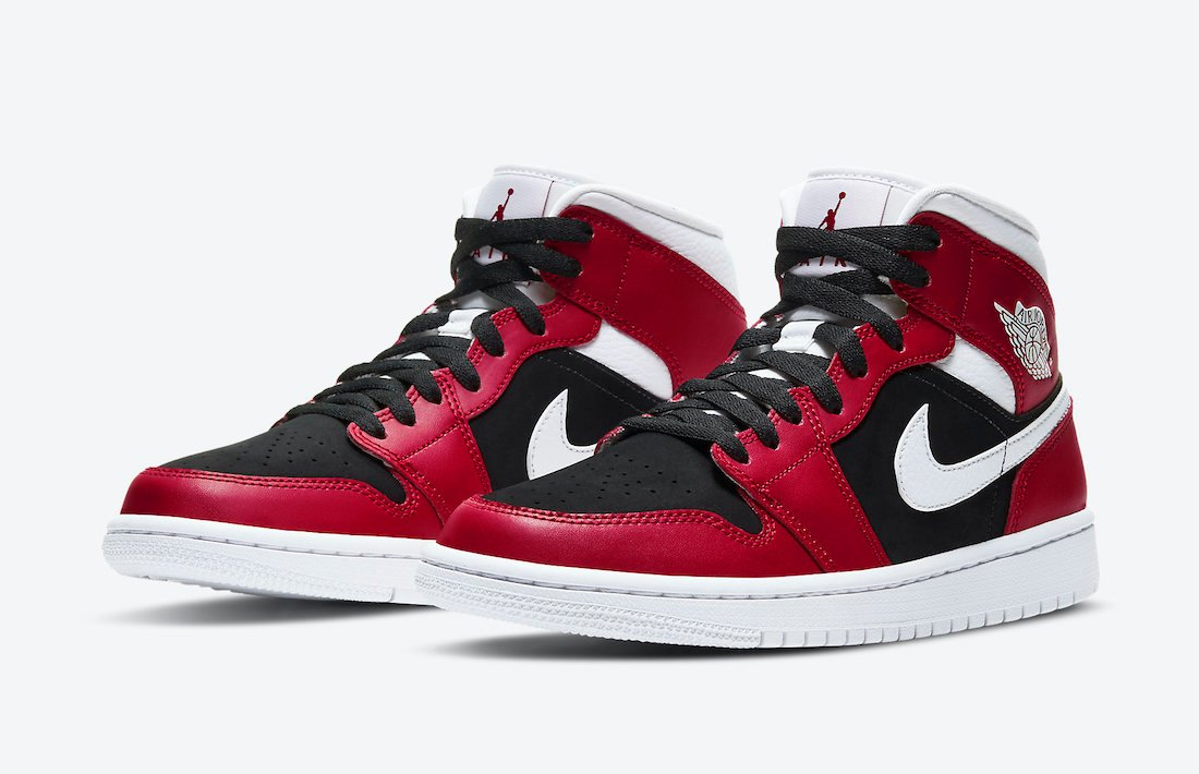 Air Jordan 1 Mid Red White Black BQ6472-601 Release Date Info