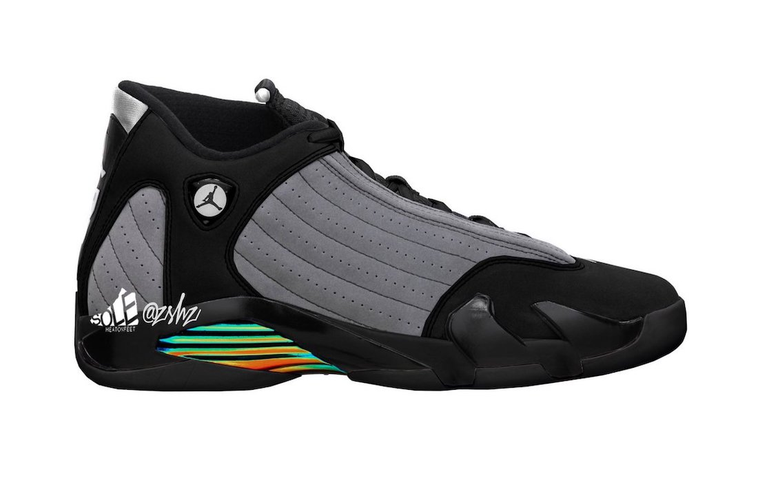 Air Jordan 14 Black Particle Grey Multi-Color White 487471-001 2021 Release Date Info