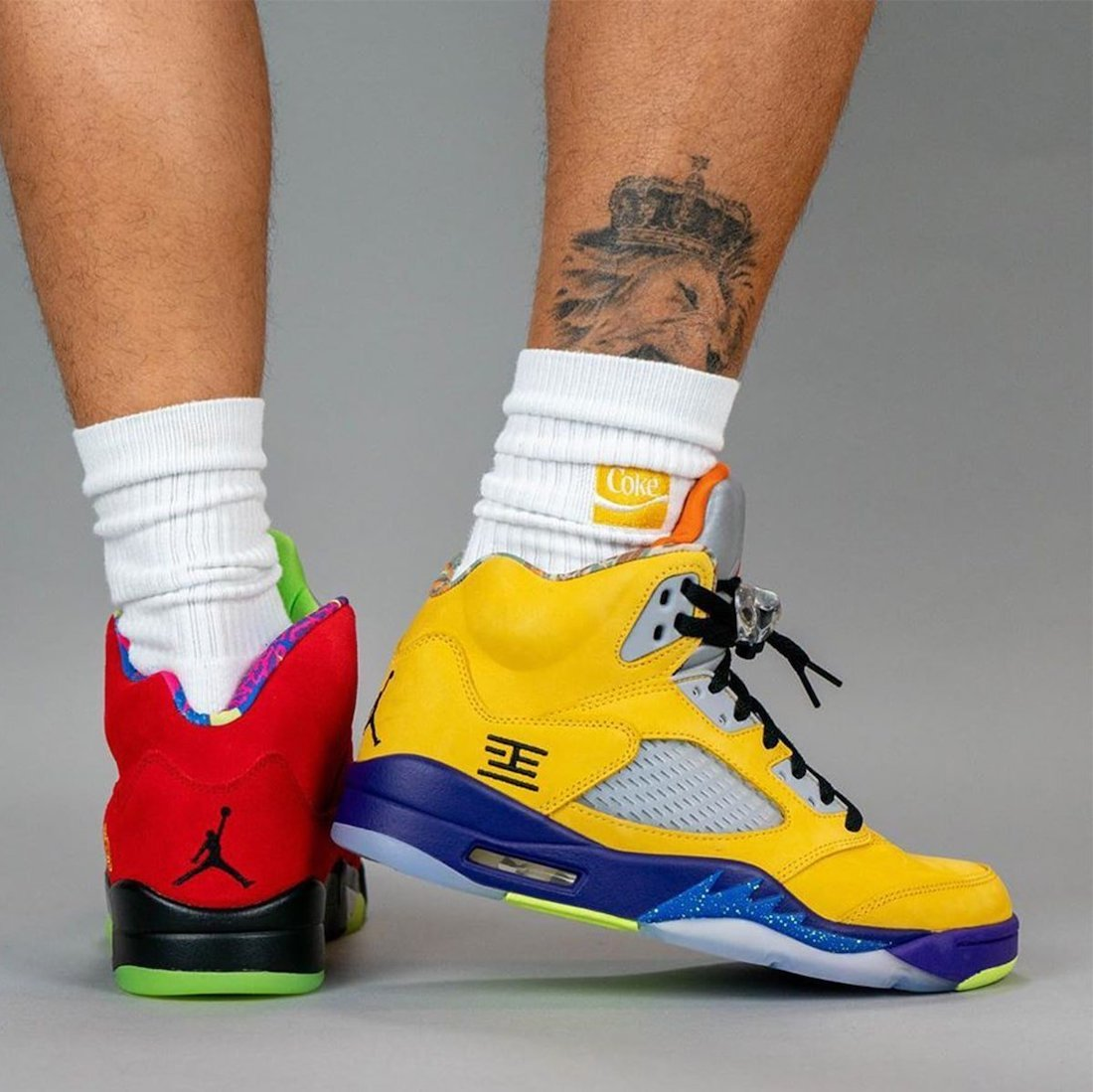 Air Jordan 5 What The On Feet CZ5725-700