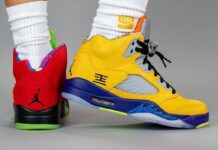 Air Jordan 5 What The On Foot CZ5725-700