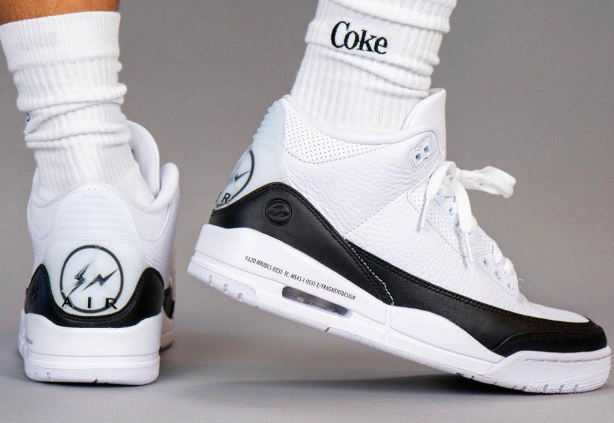Fragment x Air Jordan 3 DA3595-100 On Feet Release Date