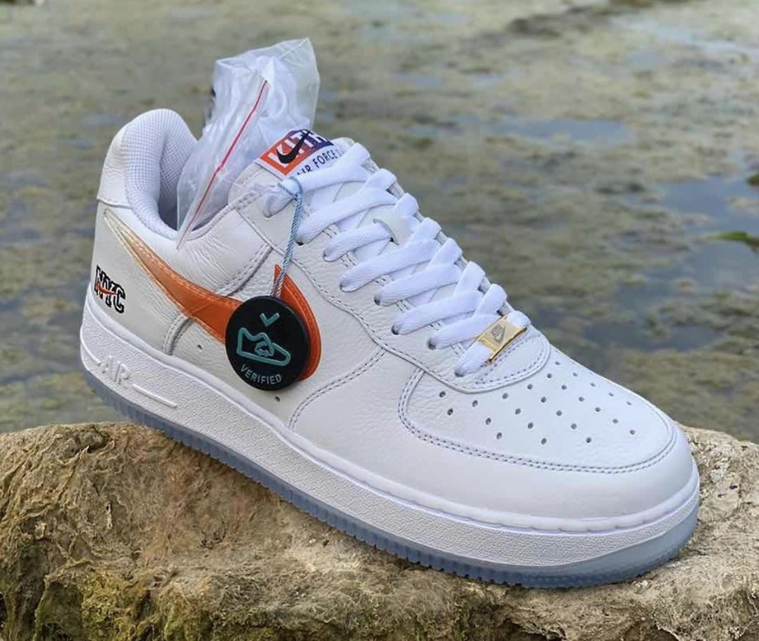 Kith Nike Air Force 1 NYC White Rush Blue White Brilliant Orange CZ7928-100 Release Date