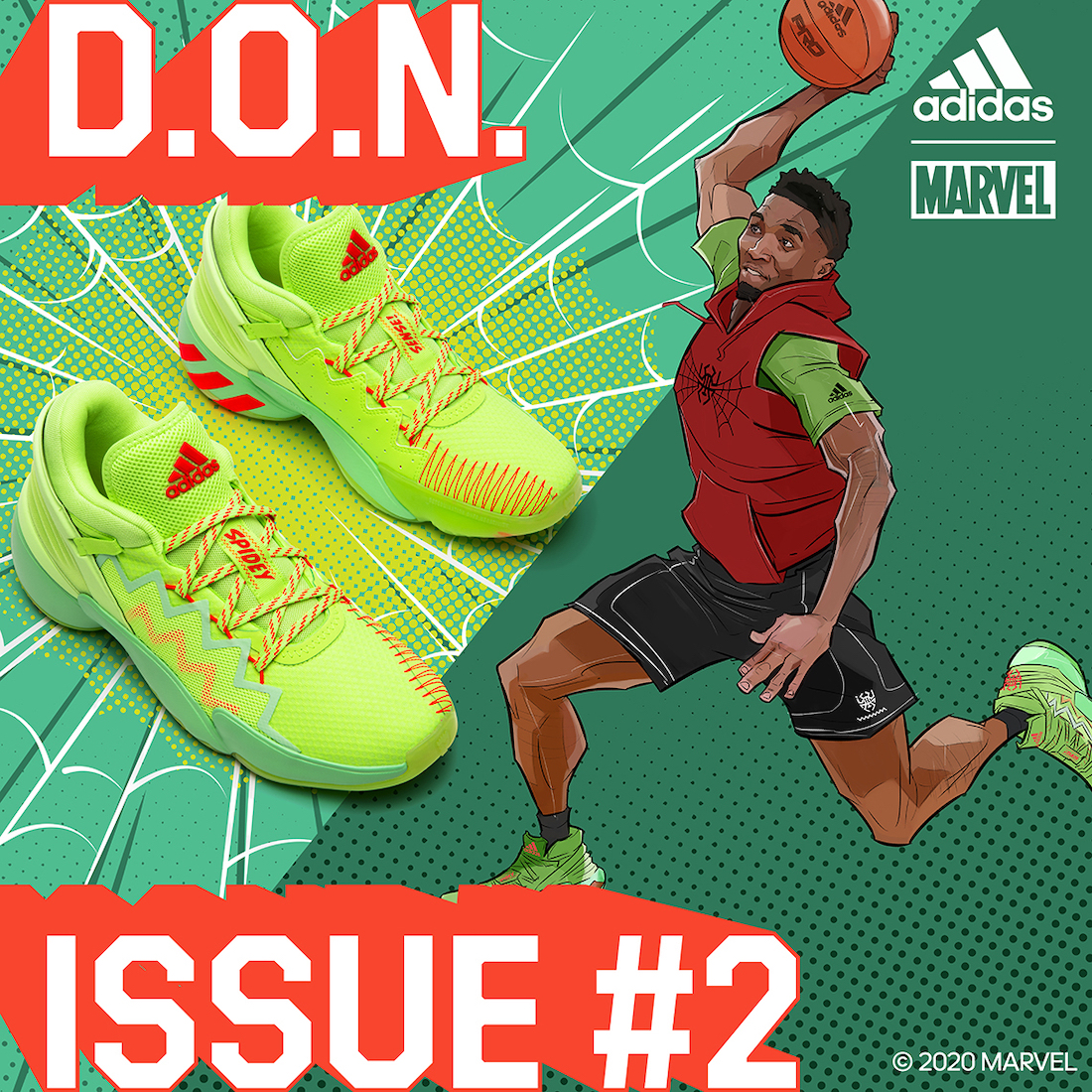 Marvel adidas DON Issue 2 Spidey-Sense Release Date Info