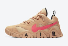 Nike Air Barrage Low Vachetta Tan Laser Crimson CT2290-200 Release Date Info