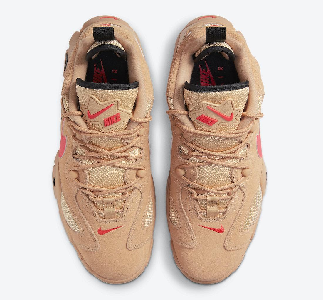 Nike Air Barrage Low Vachetta Tan Laser Crimson CT2290-200 Release Date Info