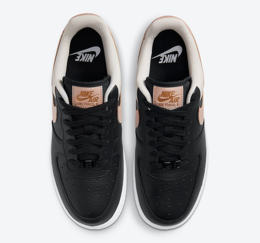 Nike Air Force 1 Black Metallic Red Bronze Light Orewood Brown CU5311-001 Release Date Info