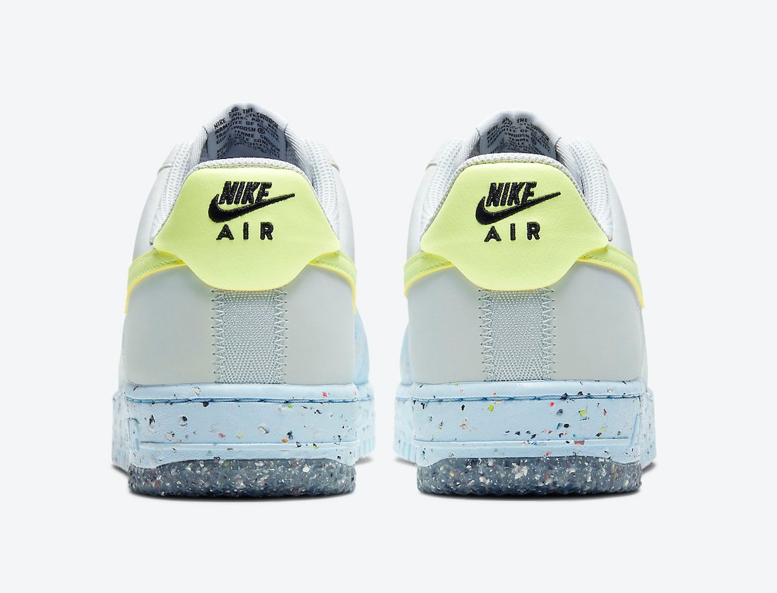 Nike Air Force 1 Crater Foam Pure Platinum Barely Volt White CT1986-001 Release Date Info