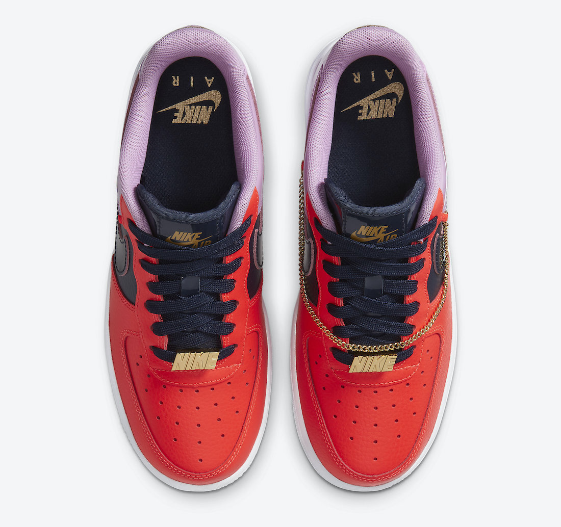 Nike Air Force 1 Cuban Link CZ8100-600 Release Date Info