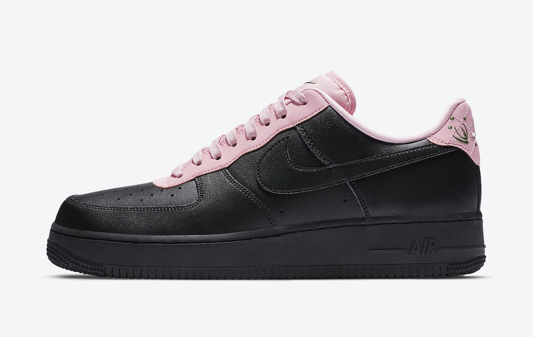 Nike Air Force 1 Low Black Pink CJ1629-001 Release Date Info