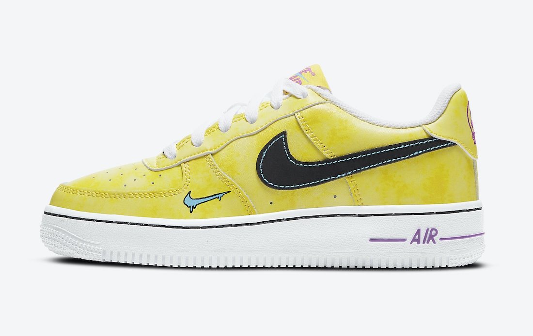 Nike Air Force 1 Low Kids Melted Smily Face DC7299-700 Release Date Info