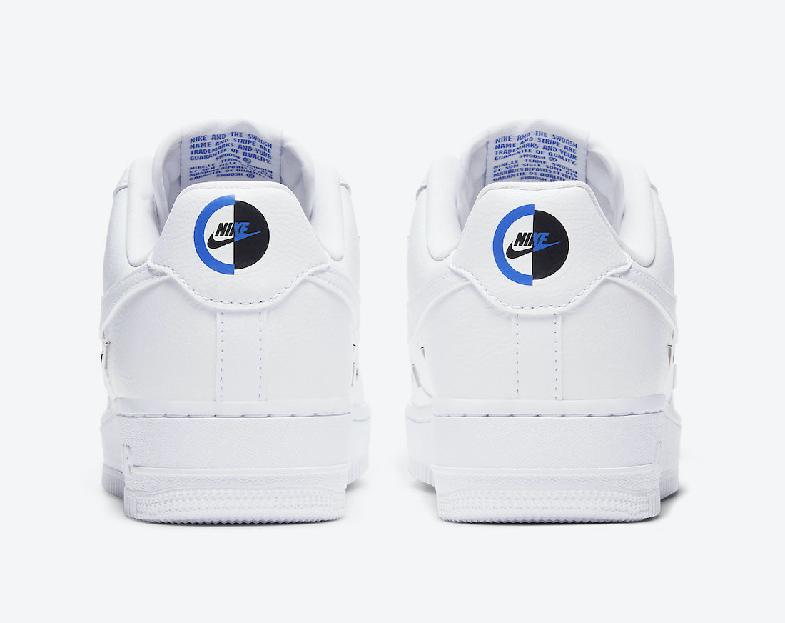 Nike Air Force 1 LX Chrome Swooshes CT1990-100 Release Date Info