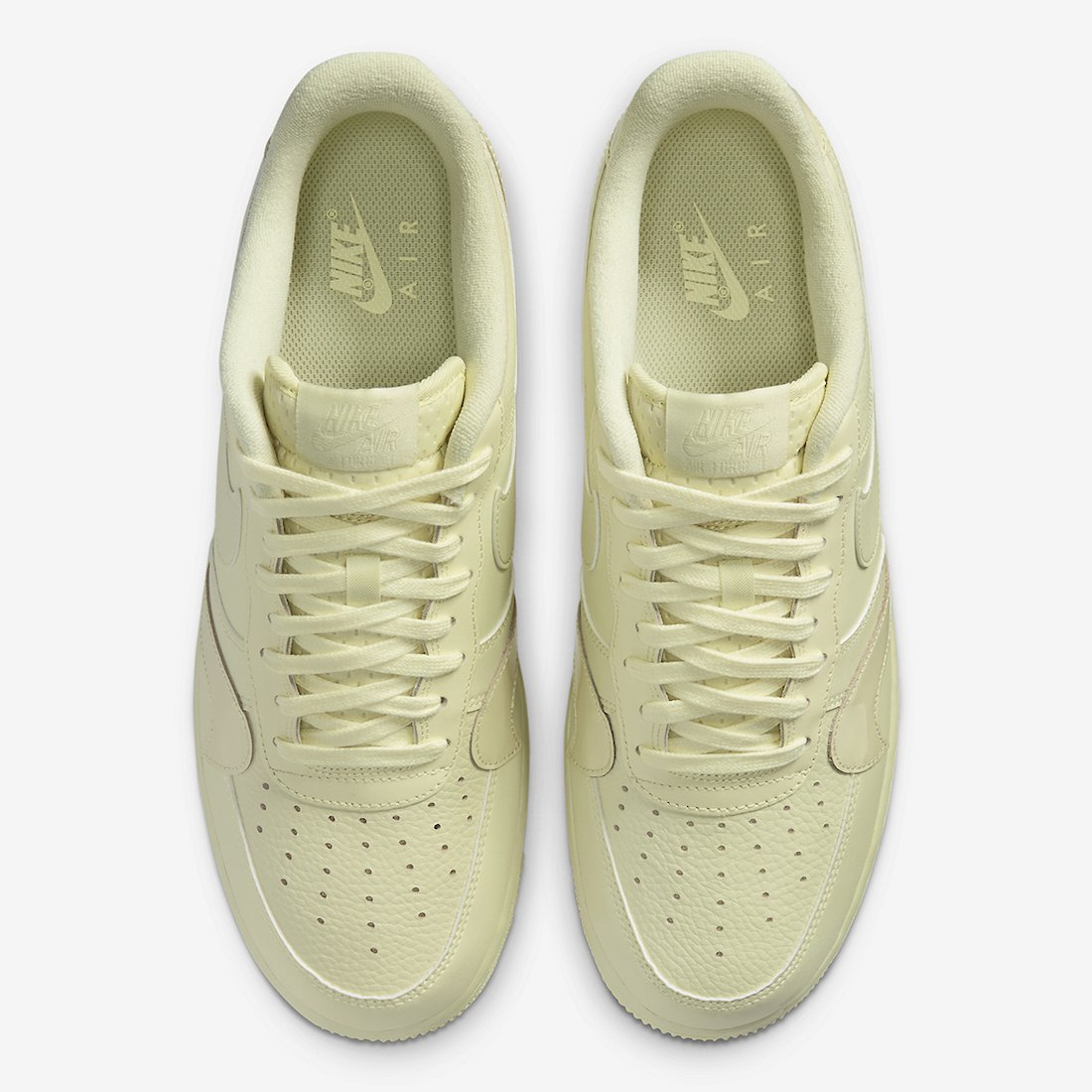 Nike Air Force 1 Misplaced Swoosh Pale Yellow CK7214-700 Release Date Info