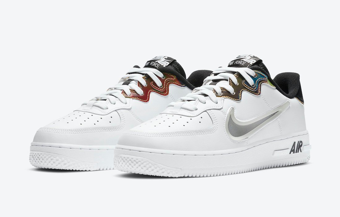 Nike Air Force 1 React in White Releasing with Iridescent Details