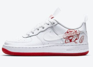 Nike Air Force 1 Rose White University Red CN8534-100 Release Date Info