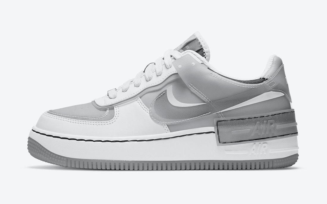 Nike Air Force 1 Shadow Particle Grey CK6561-100 Release Date Info