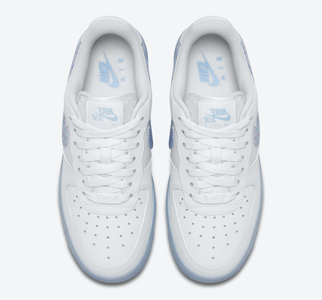 Nike Air Force 1 White Light Blue CZ0377-100 Release Date Info