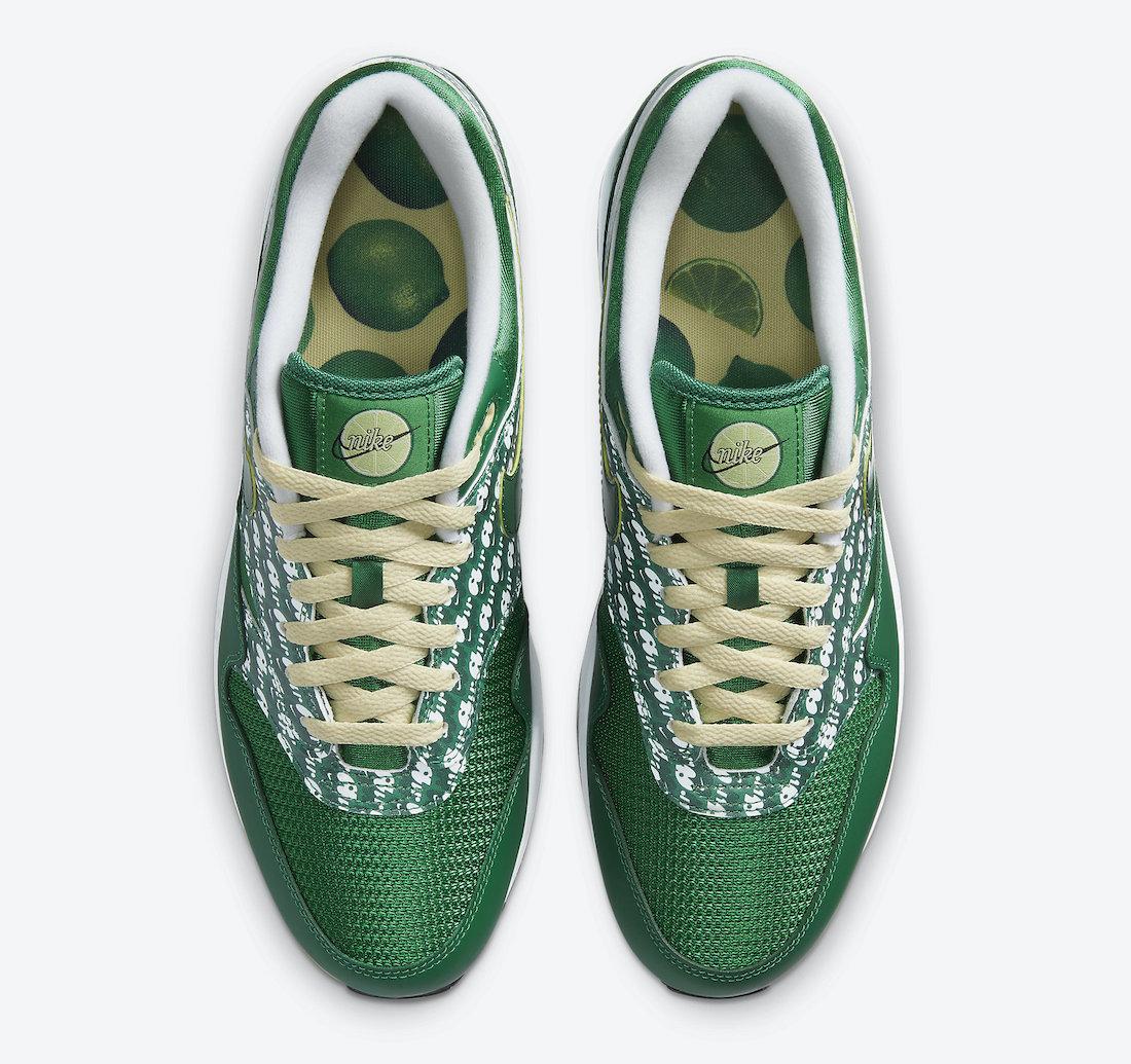 Nike Air Max 1 Powerwall Pine Green Lime CJ0609-300 Release Date