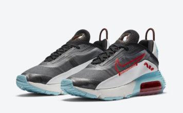 Nike Air Max 2090 Black Bleached Aqua Chile Red DA4292-001 Release Date Info