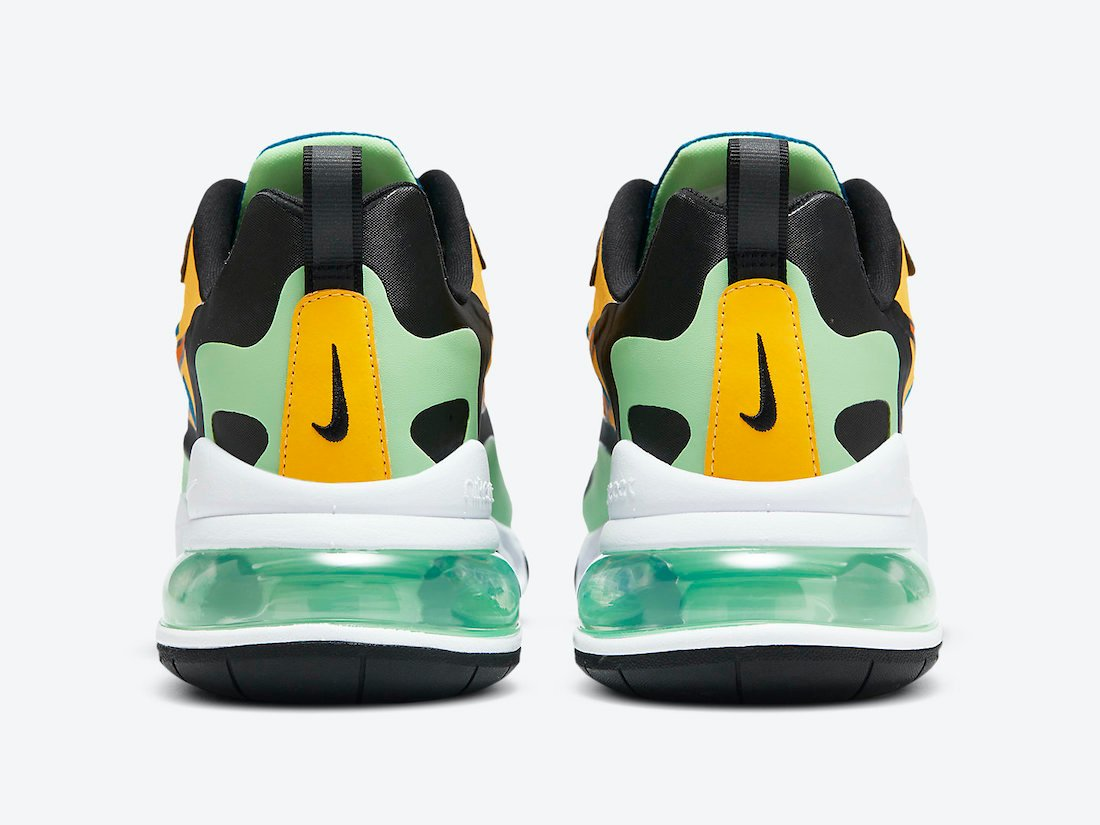 Nike Air Max 270 React Green Abyss Laser Orange CZ7869-300 Release Date Info
