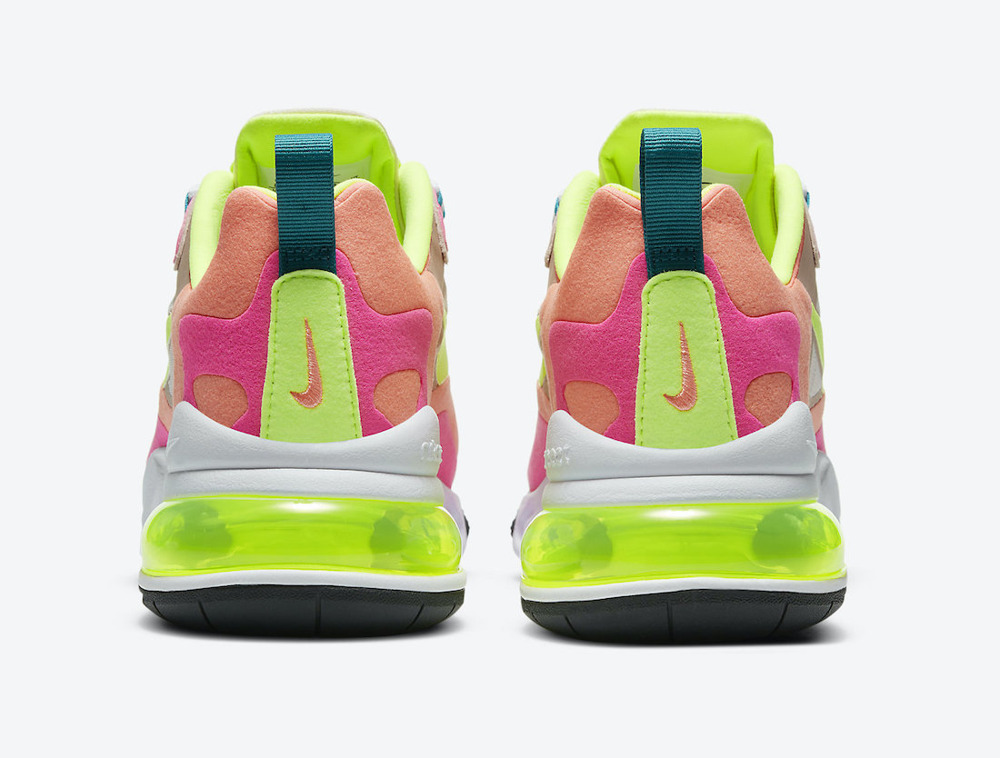 Nike Air Max 270 React Pink Volt Orange DC1863-600 Release Date Info