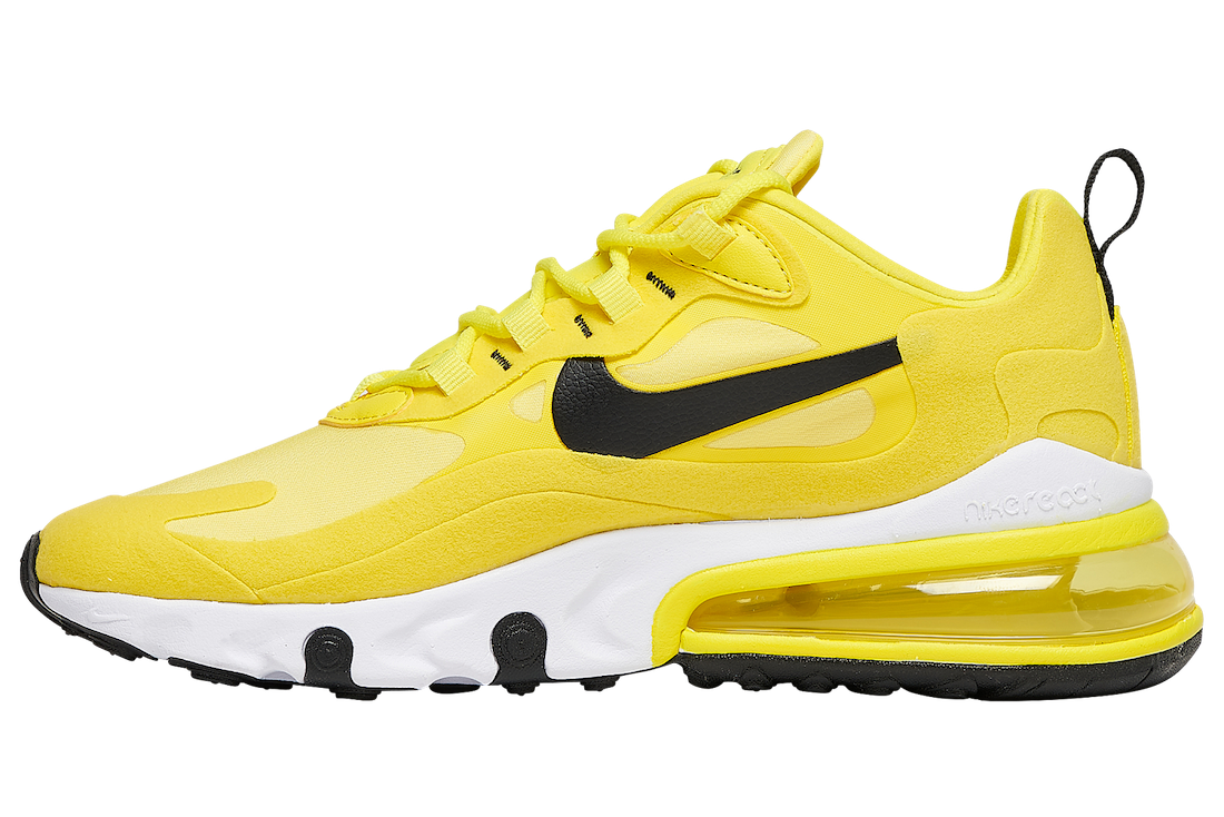 Nike Air Max 270 React Yellow Black Nike Air Max 270 React Yellow Black CZ9370-700 Release Date Info