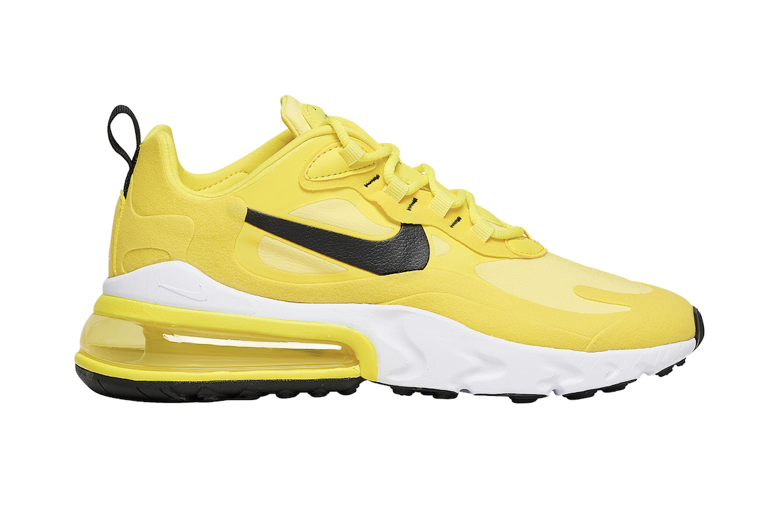 Nike Air Max 270 React Yellow Black CZ9370-700