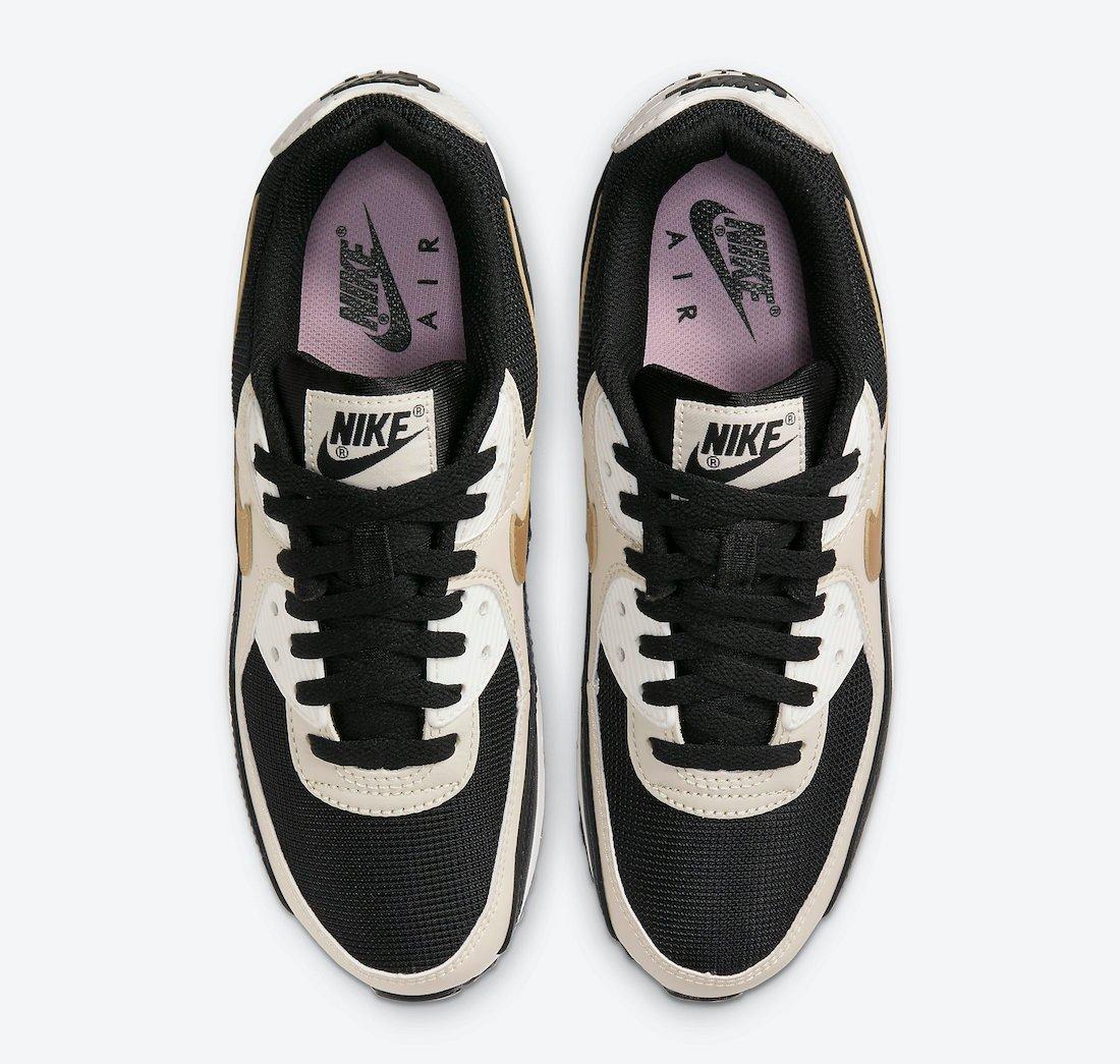 Nike Air Max 90 Black Metallic Gold DB9578-001 Release Date Info