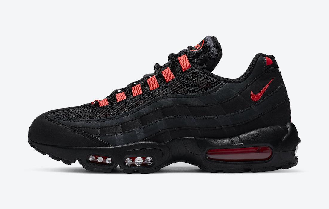 Nike Air Max 95 Black Laser Crimson DA1513-001 Release Date Info | SneakerFiles